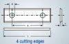 30mm x 12mm x 1.5mm  - 4-edge Carbide Insert - (Sold in boxes of 10.)