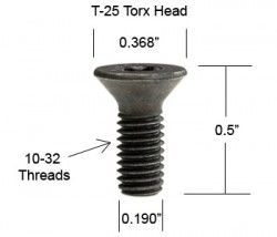 "BYRD screw uses a T25P ""plus"" not a standard T25 wrench"