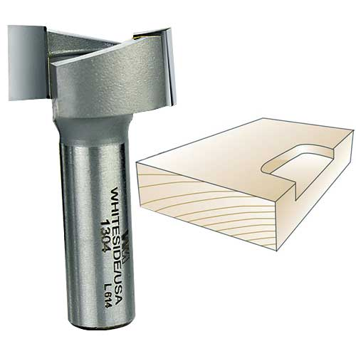 Whiteside Router Bits 1304 Mortise Bit with 1-1//4-Inch Cutting Diameter and 1//2-Inch Cutting Length