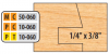 Freeborn PC-10-060 wood sample created by the 6 piece shaper cutter set